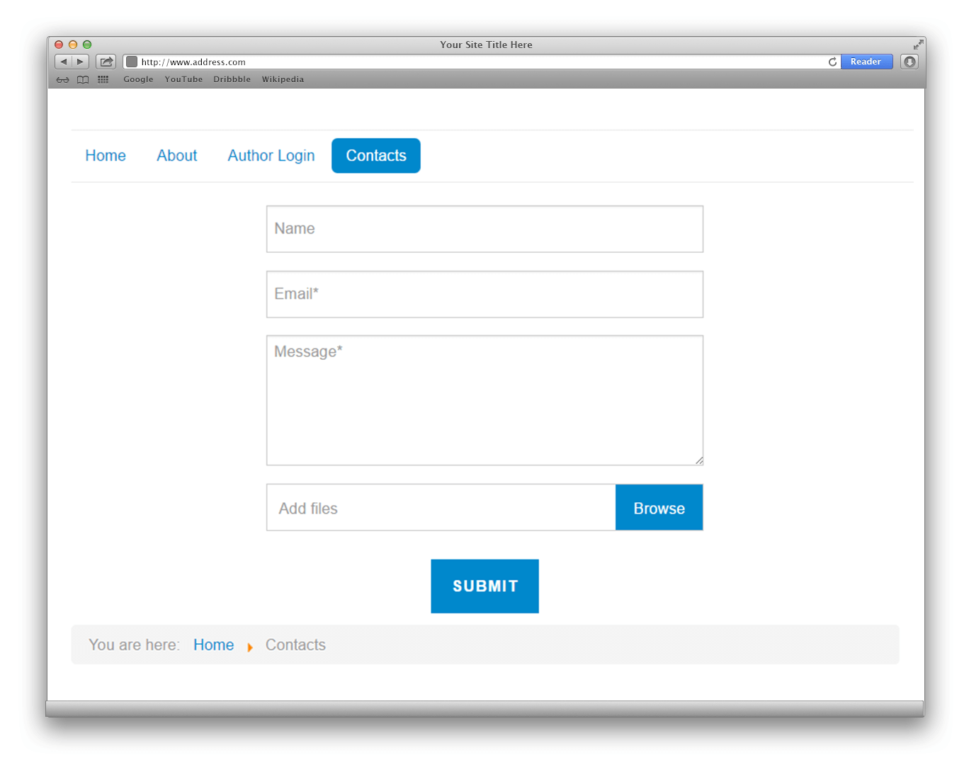Contact Form Installation